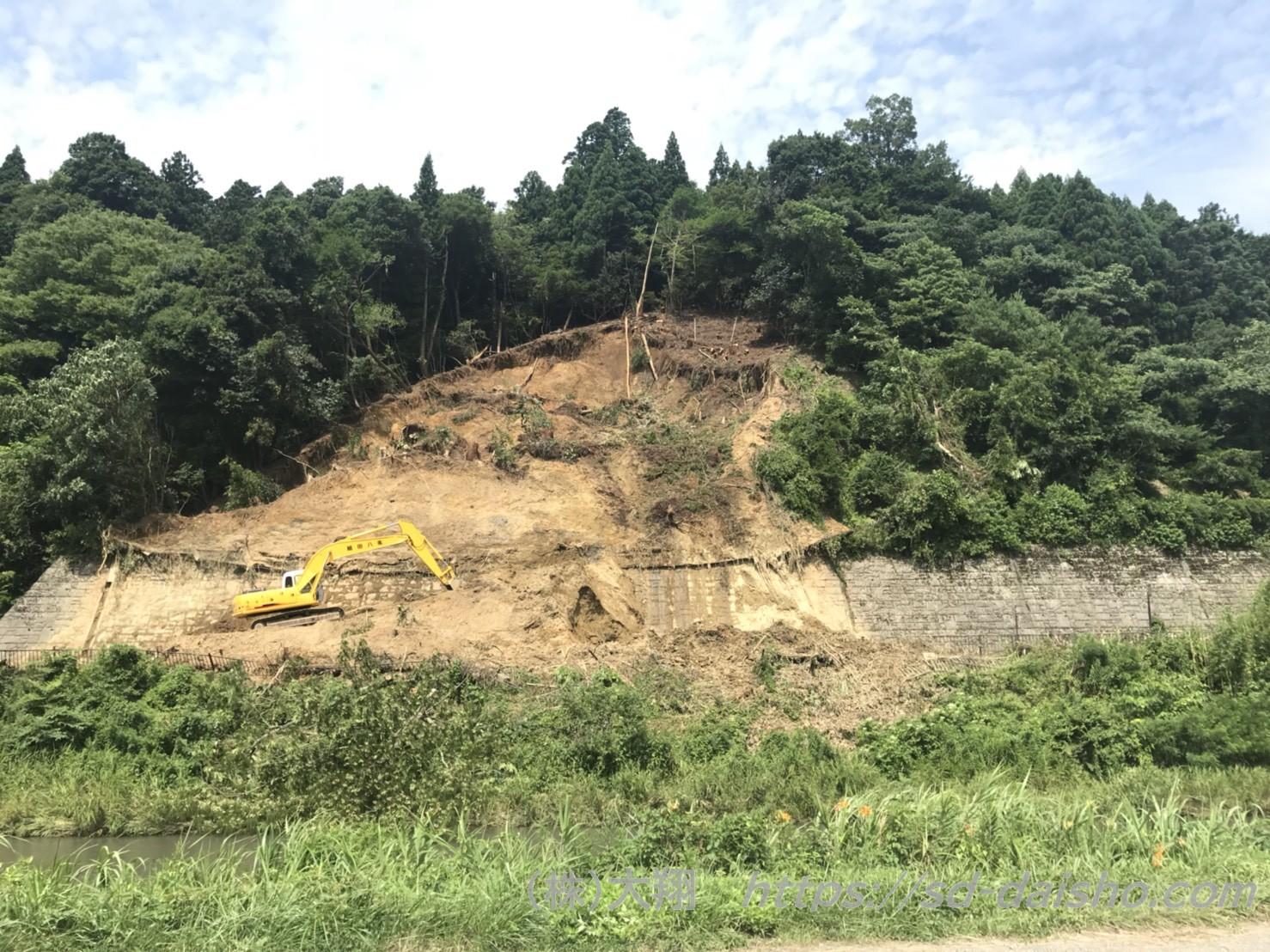 11日現在の黒田ー余呉間土砂災害復旧状況です。