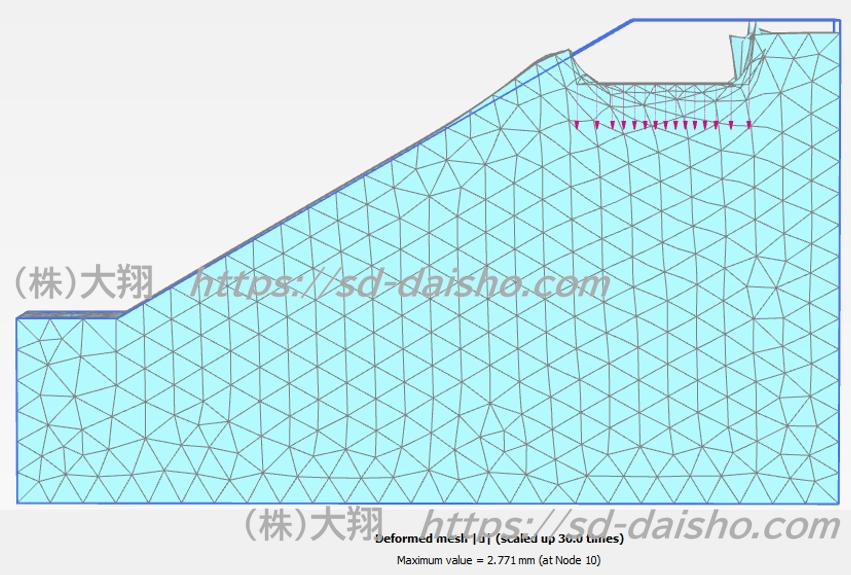 斜面崩壊FEM解析 地盤変形