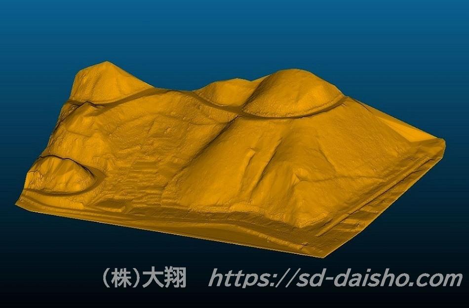法面 3Dモデル UAVレーザー