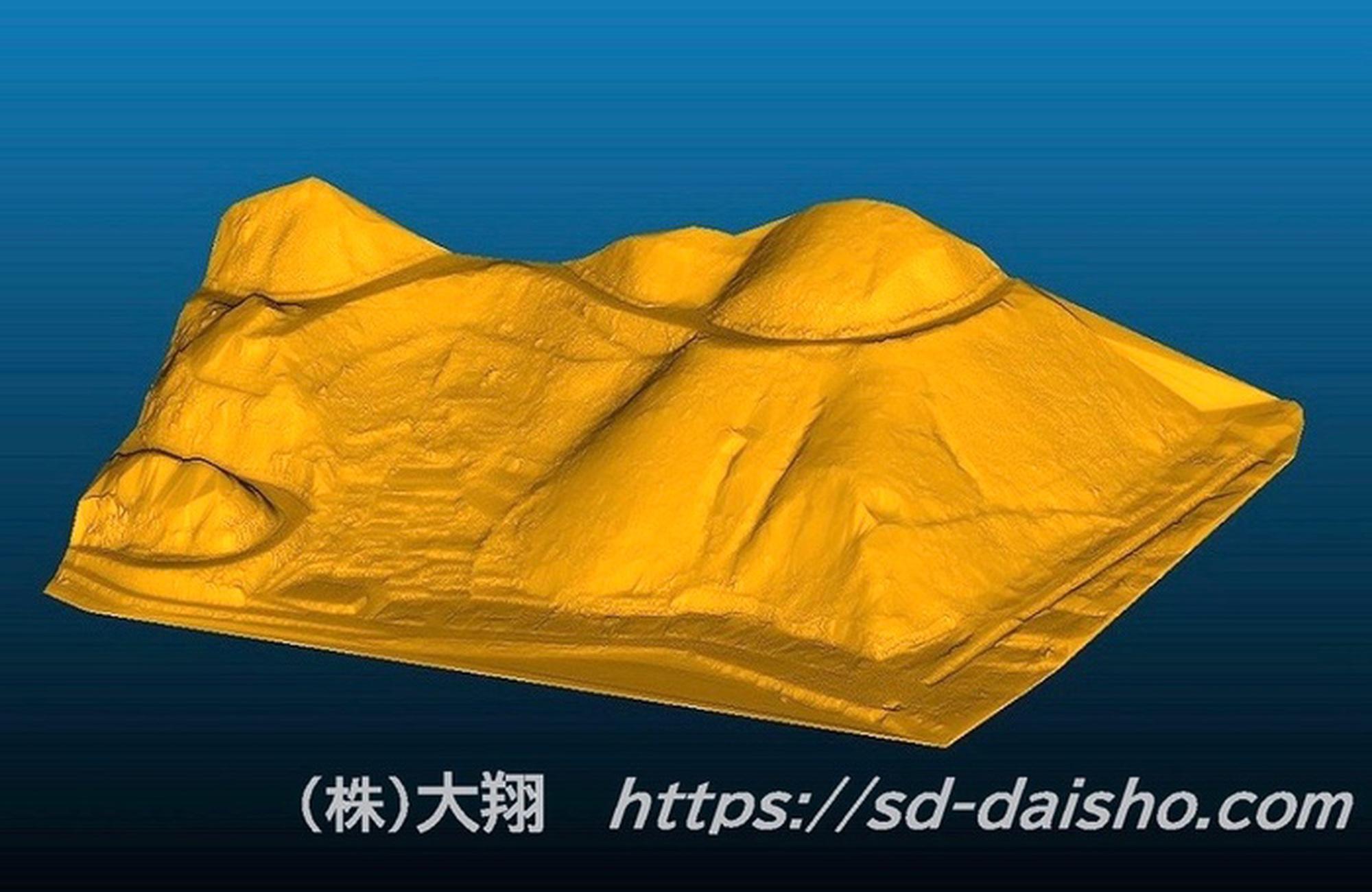3Dモデル_法面