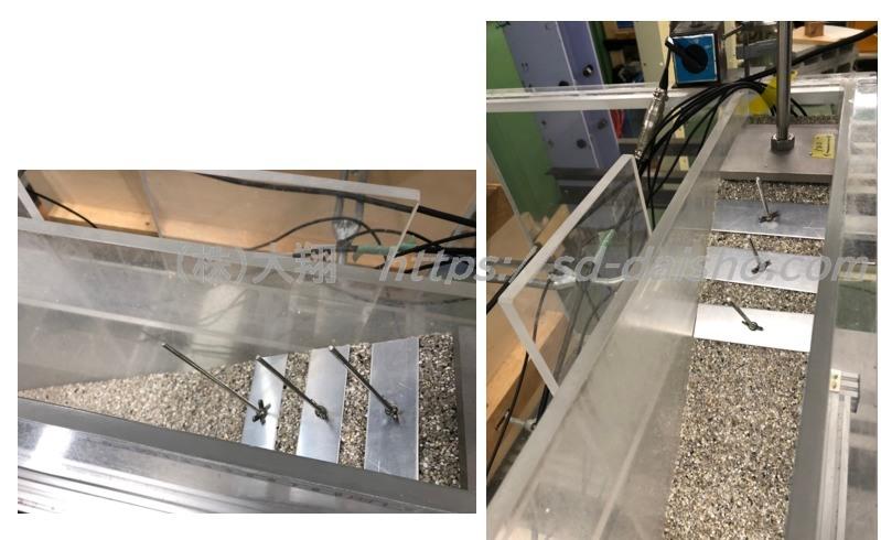 アースアンカー斜面補強実験