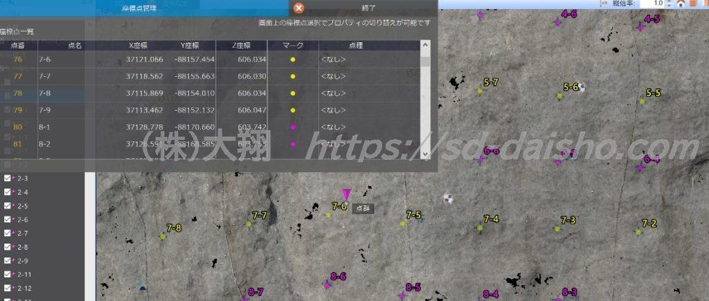 3次元データグラウンドアンカー標高管理